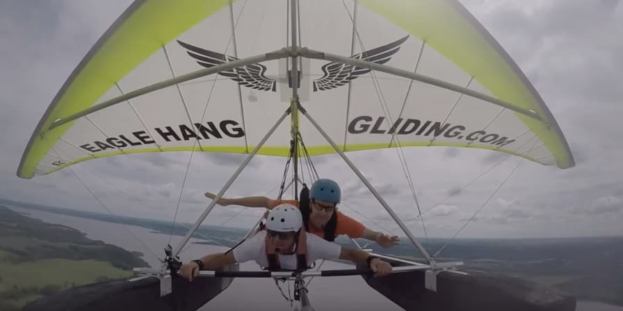 wish recipient michael b hang gliding
