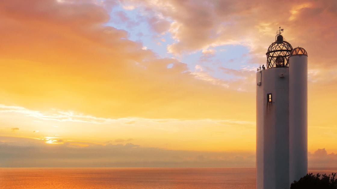 Gorliz Lighthouse on RunHunters Gorliz Armintza Trail