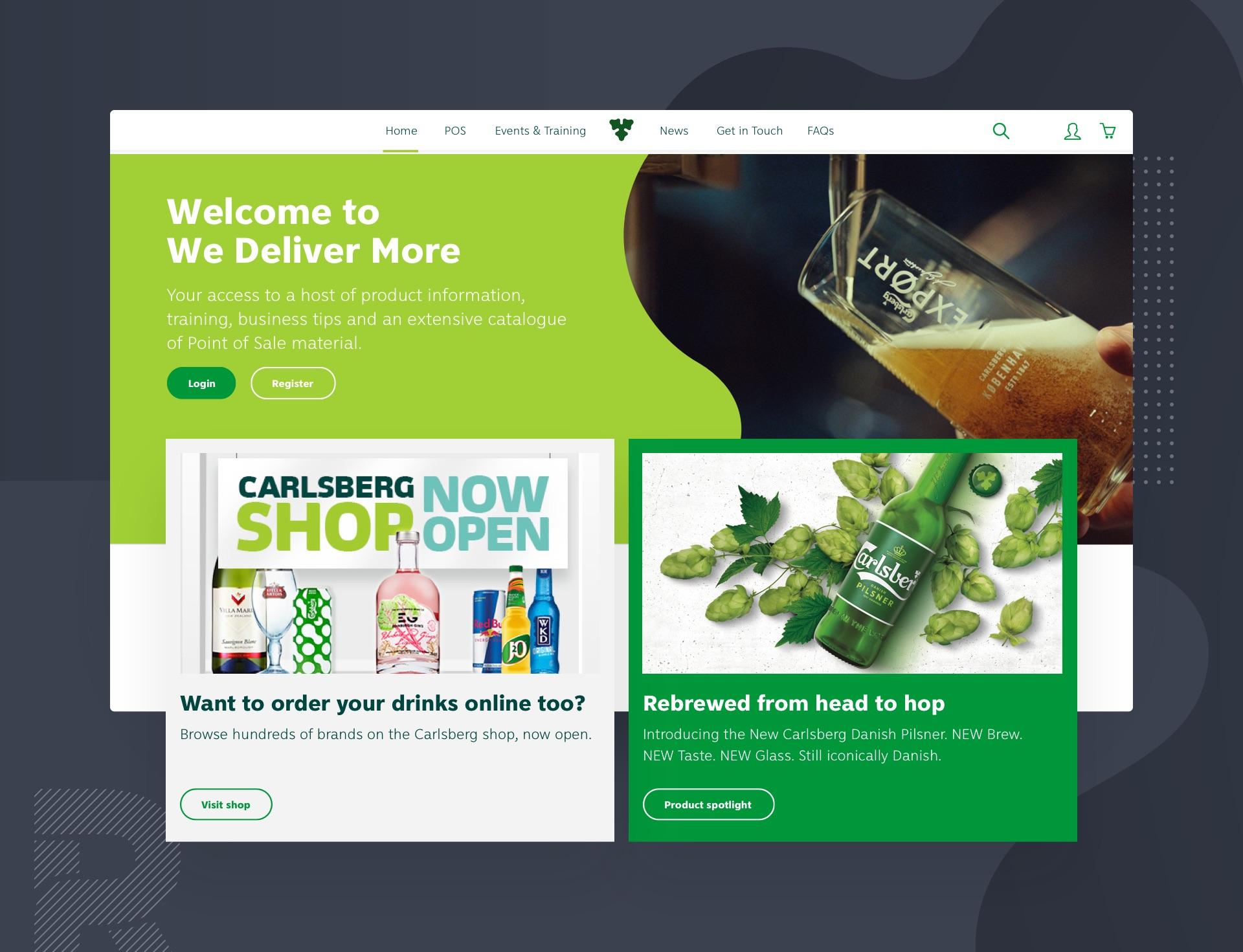 Carlsberg We Deliver More showcase image