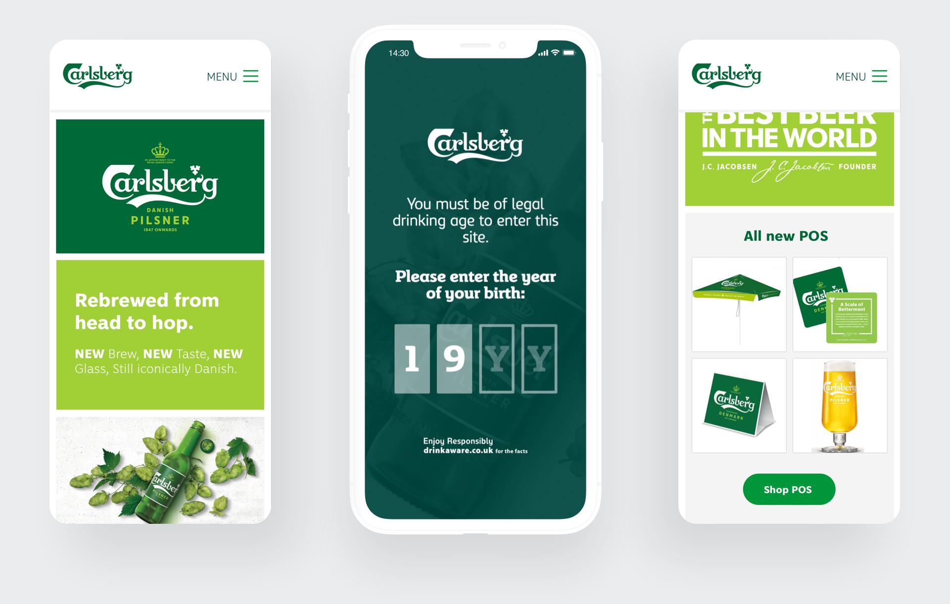 Carlsberg We Deliver More responsive styling