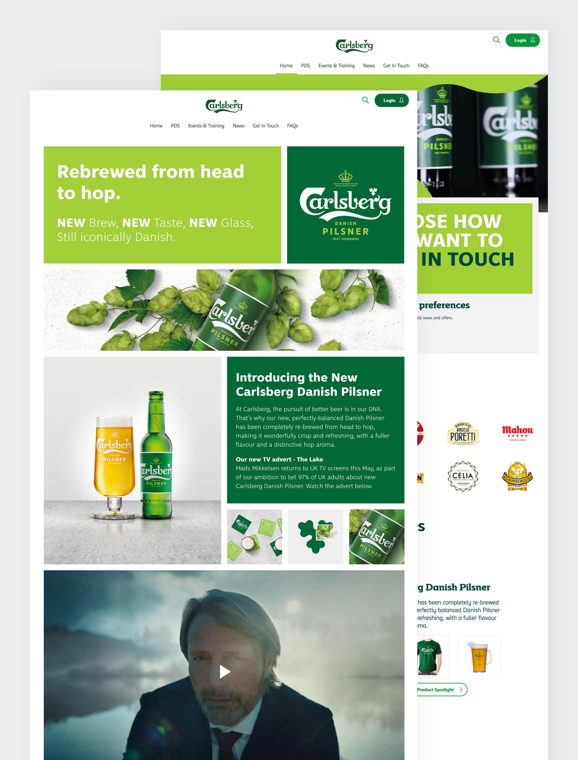 Carlsberg We Deliver More web pages