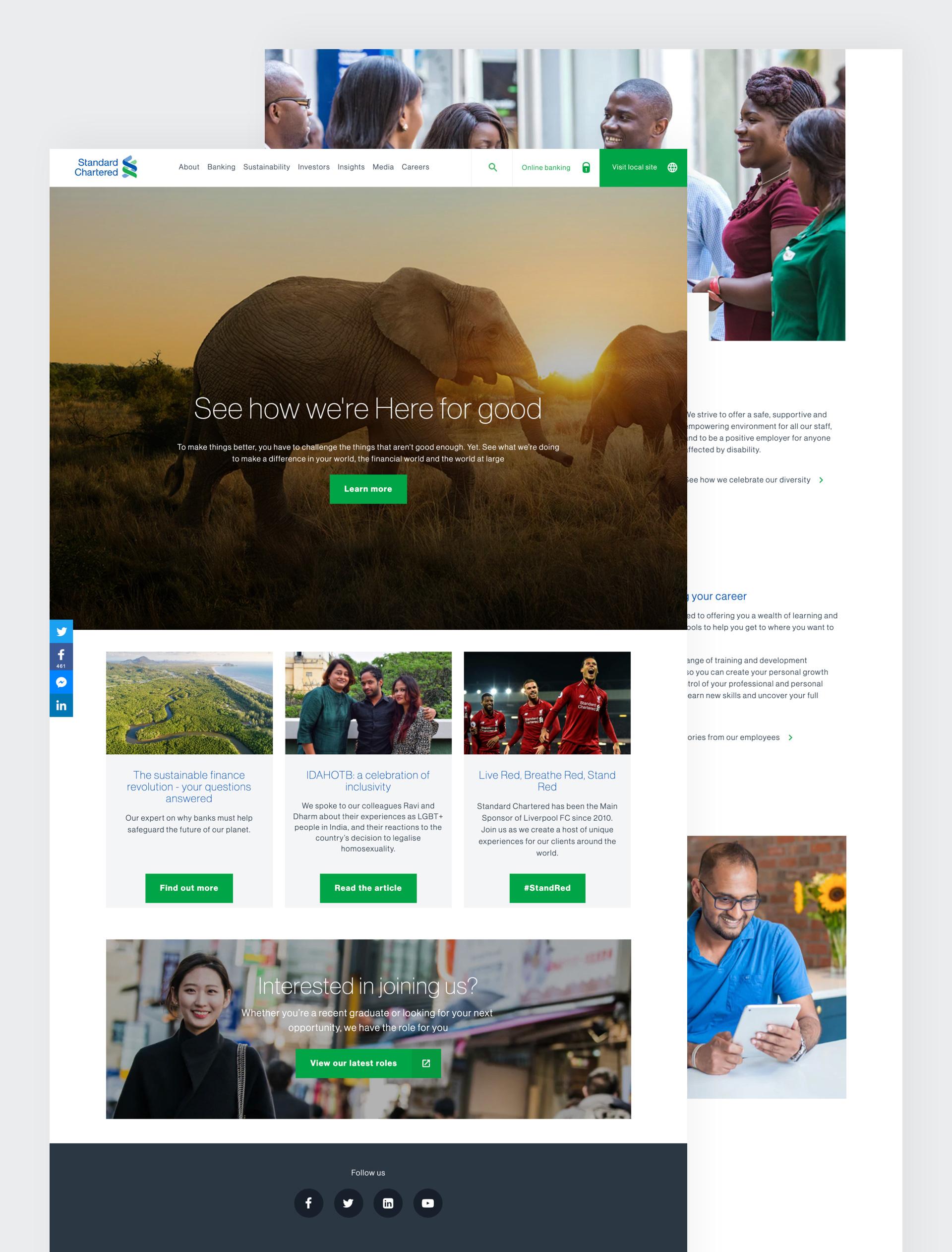 Standard Chartered global website pages