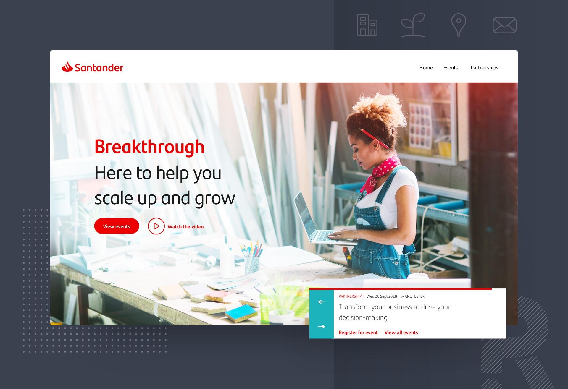 Santander Breakthrough showcase image