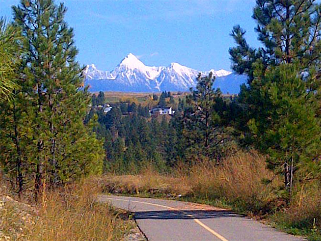 North Star Rails to Trails View of Fischer Peak
