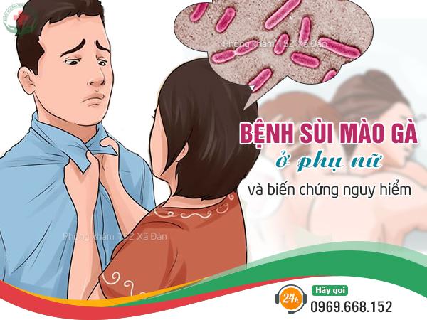 Biểu hiện của bệnh sùi mào gà ở nữ