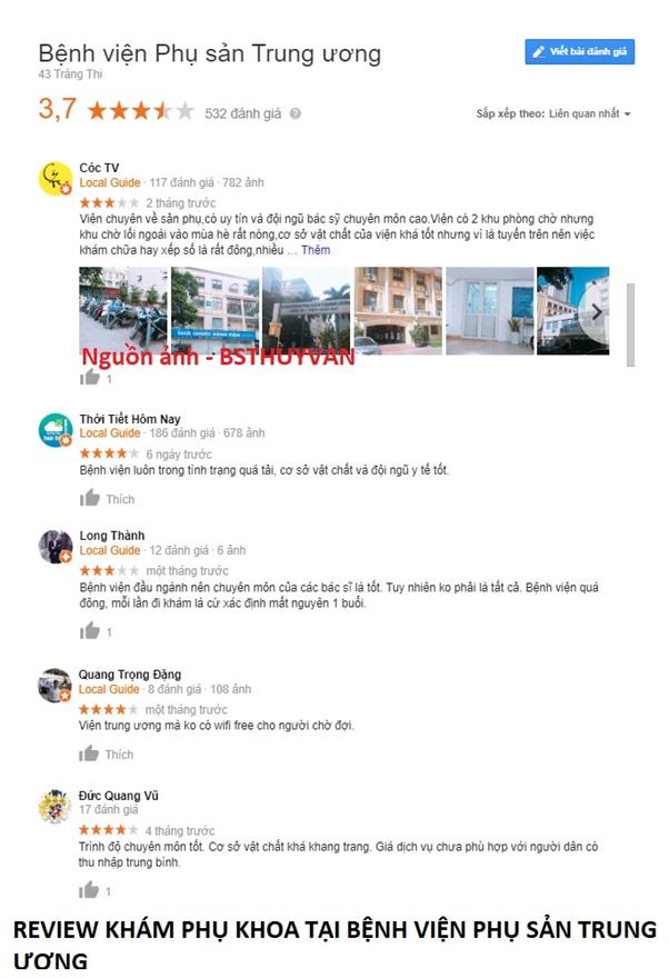 Review bệnh nhân khi đi khám tại bệnh viện phụ sản trung ương