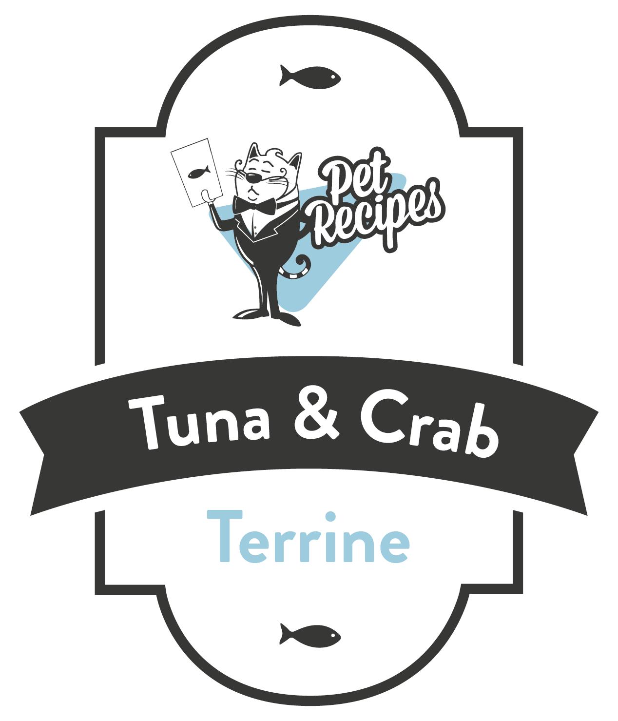 Tuna & Crab terrine cat food label