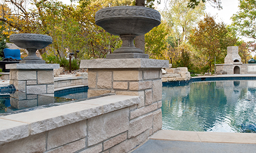 Limestone Pavers, Wall Caps, Pier Caps, Garden Wall, Garden Steppers and Boulders