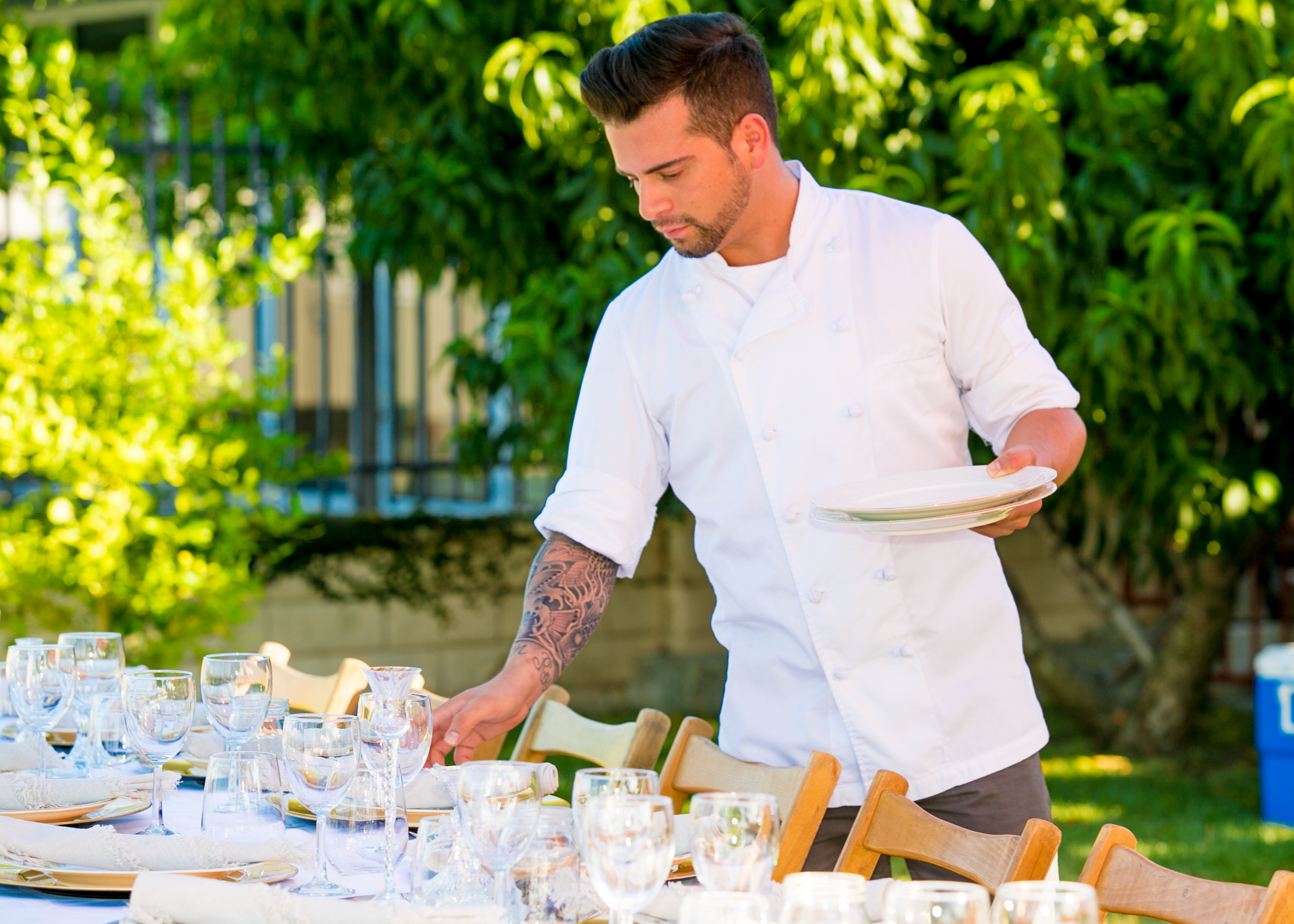 Chef Steven table setting