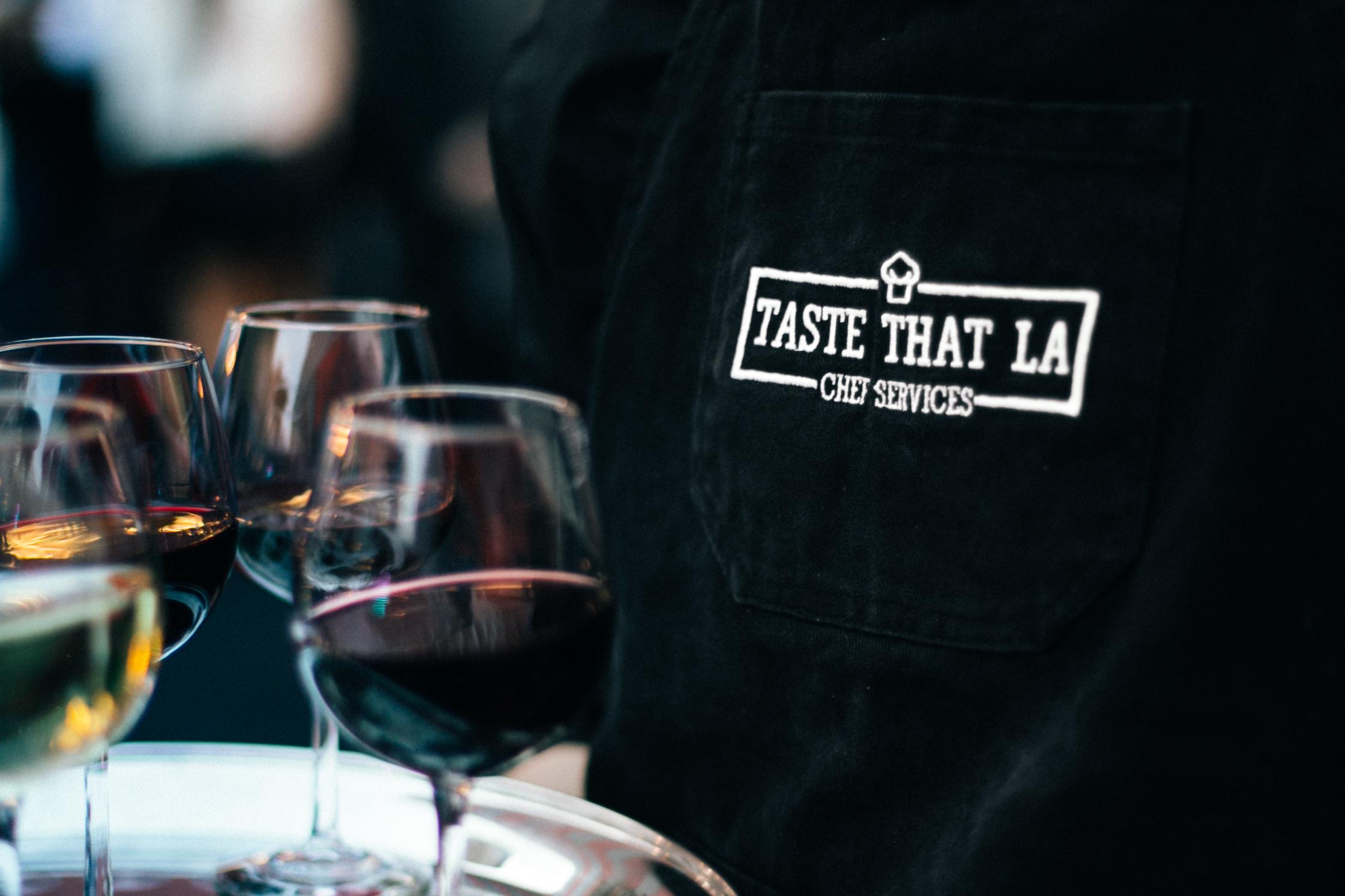 Serving wine