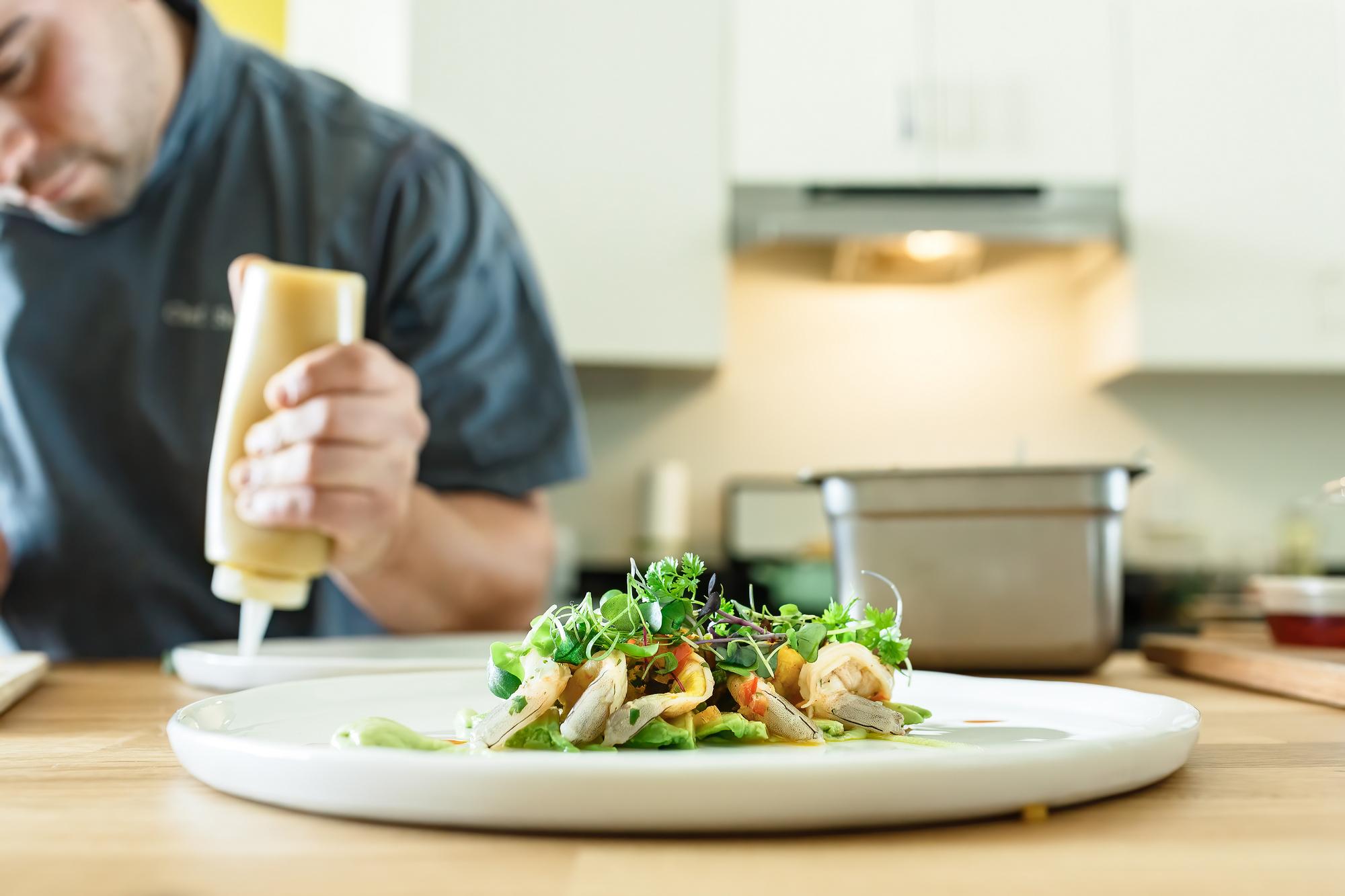 Preparing Sushi plate
