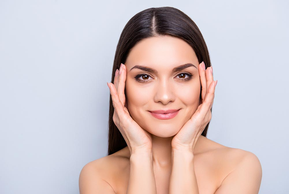 Image of woman after facial aesthetics treatment