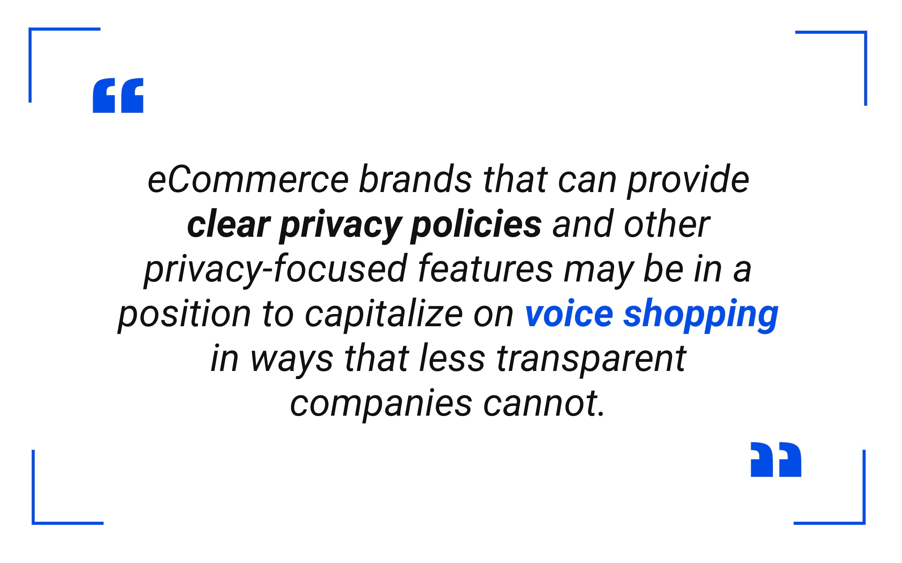 eCommerce brands that can provide clear privacy policies
