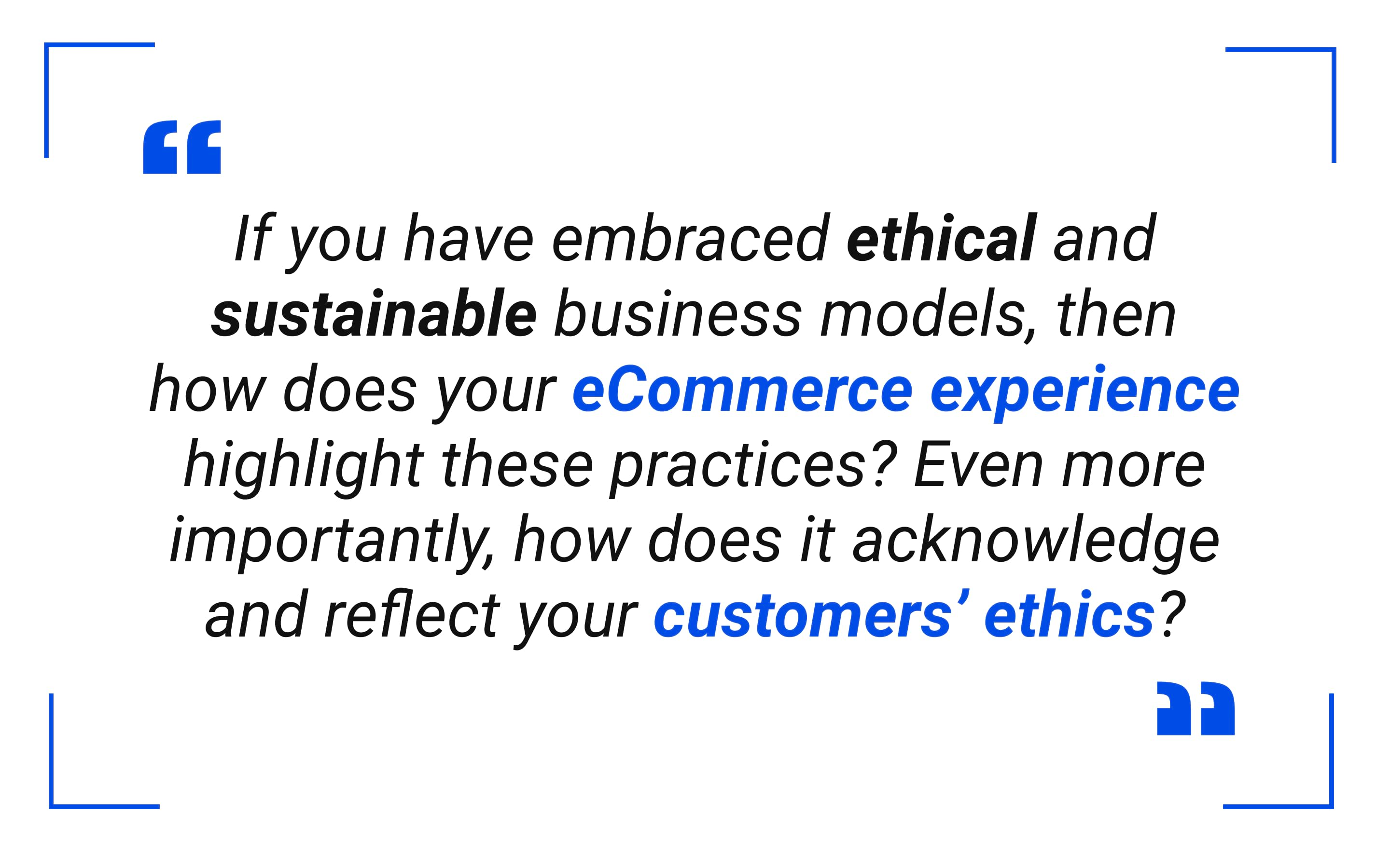 Ethical and sustainable business models