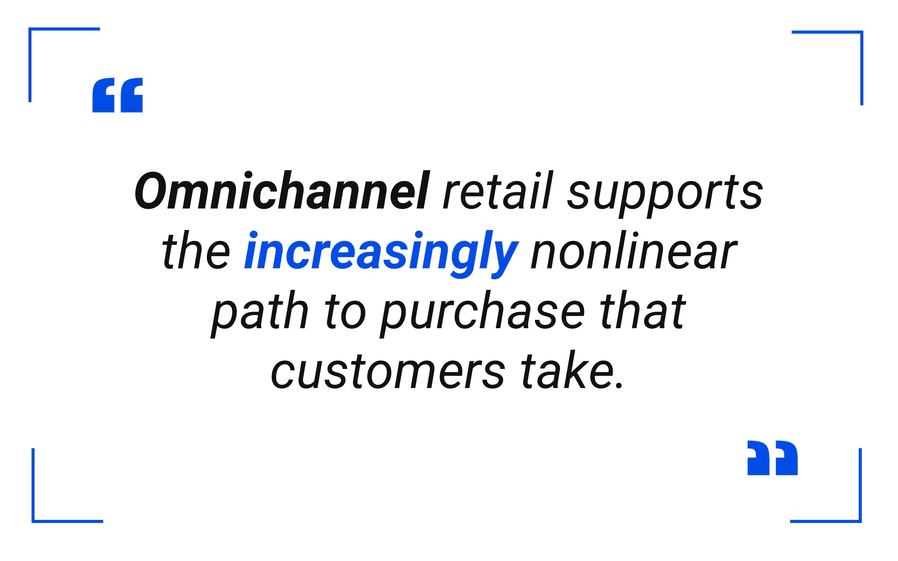 Omnichannel retail supports the increasingly nonlinear path to purchase that customers take