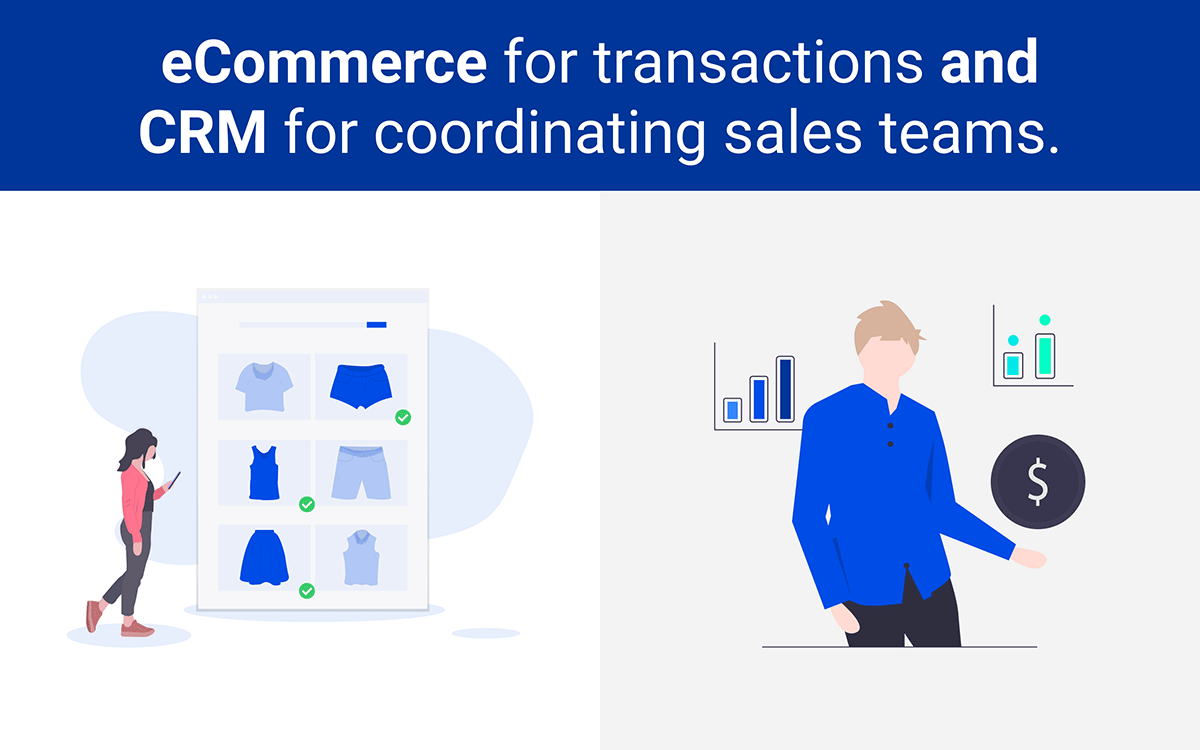 CRM and eCommerce systems