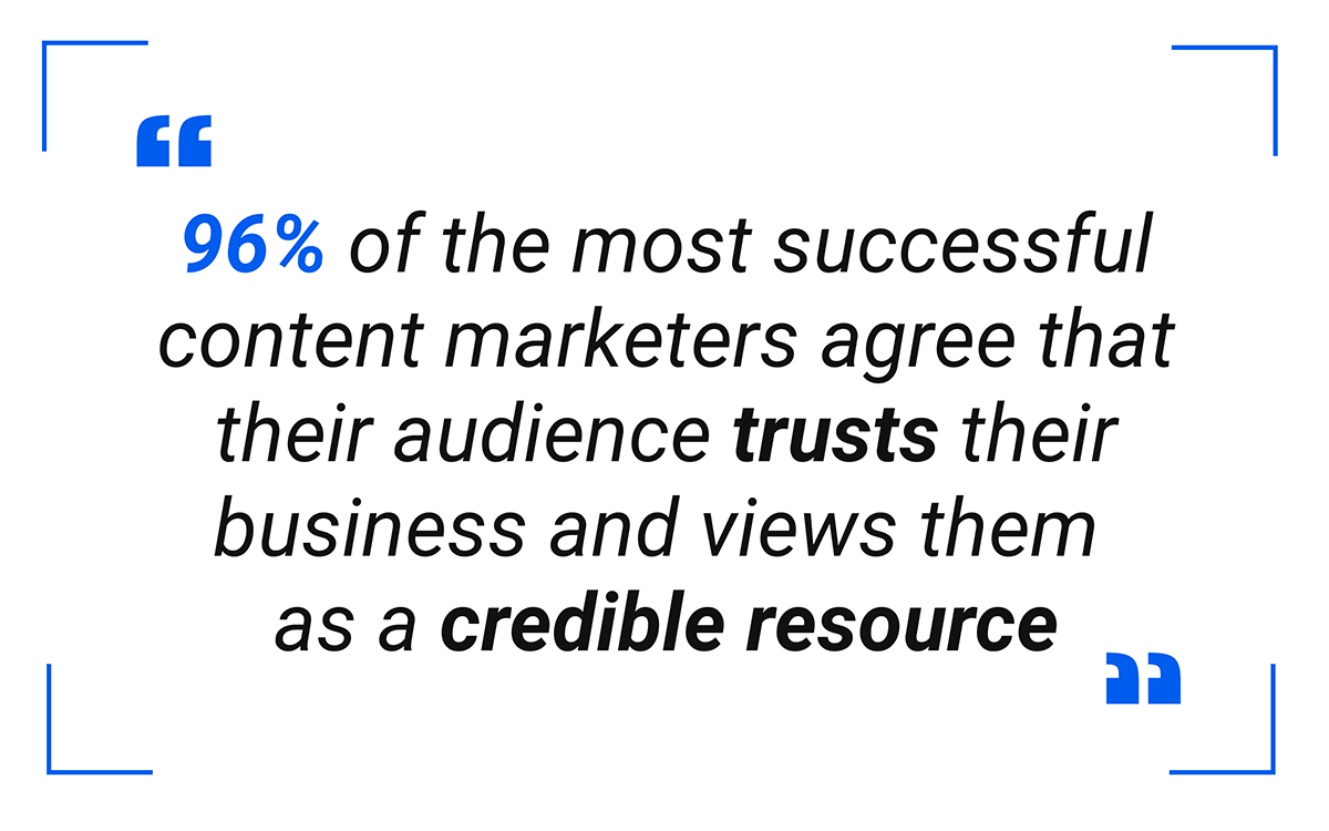 B2B Content Marketers agree their audience trusts their business