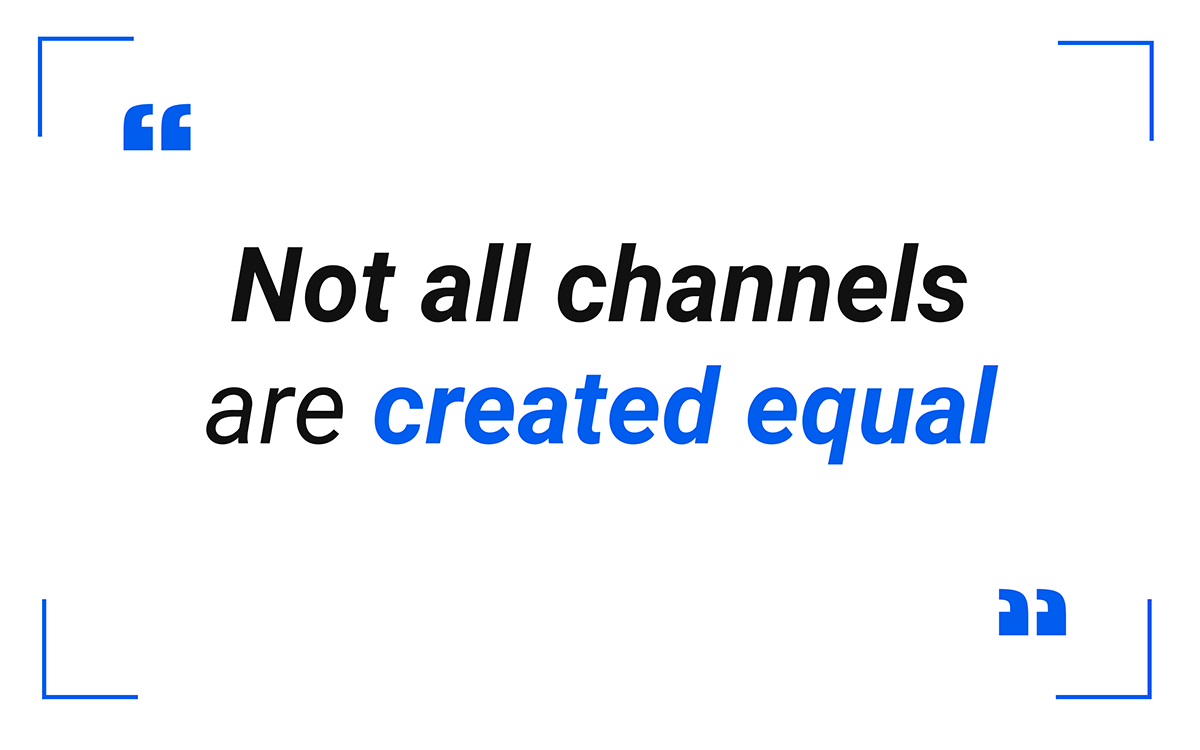 Not all Multi channels are created equal