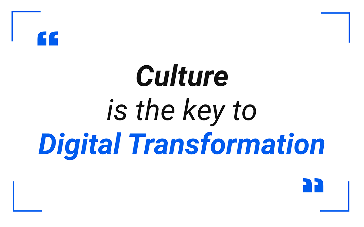 Culture  is the key to  digital transformation