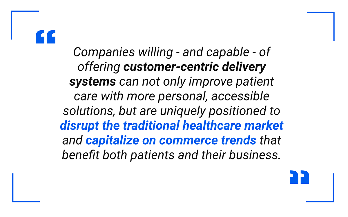 companies willing - and capable - of offering customer-centric delivery systems