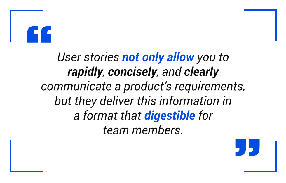 pull quote: user stories conclusion