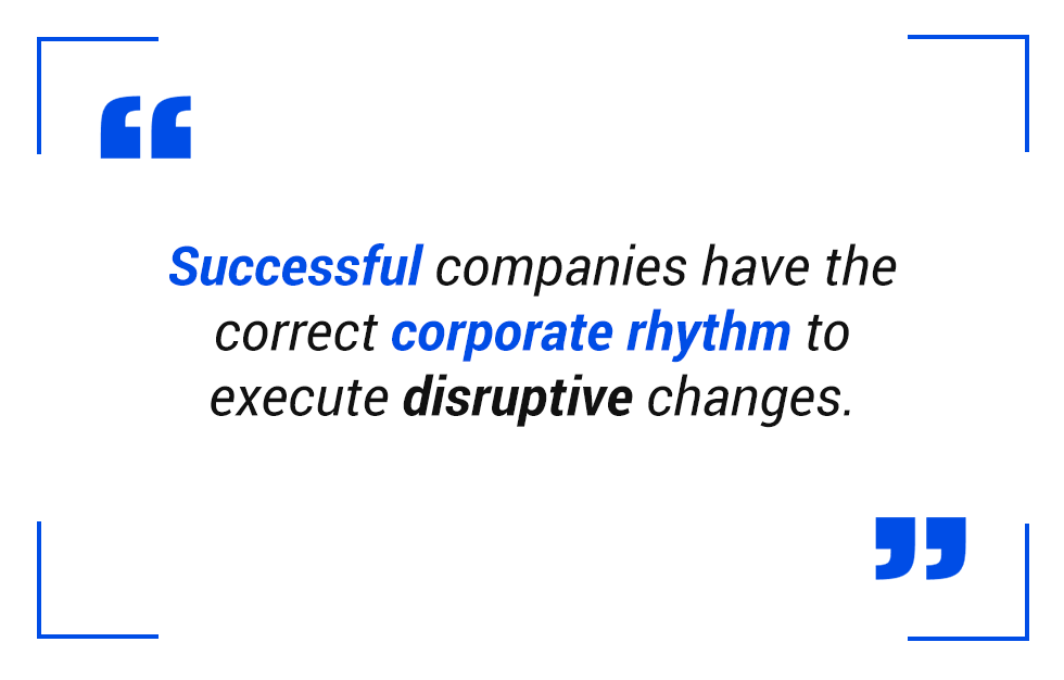 pull quote: corporate rhythm