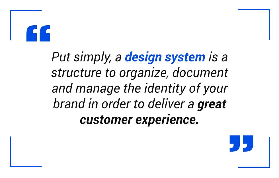 pull quote: design system