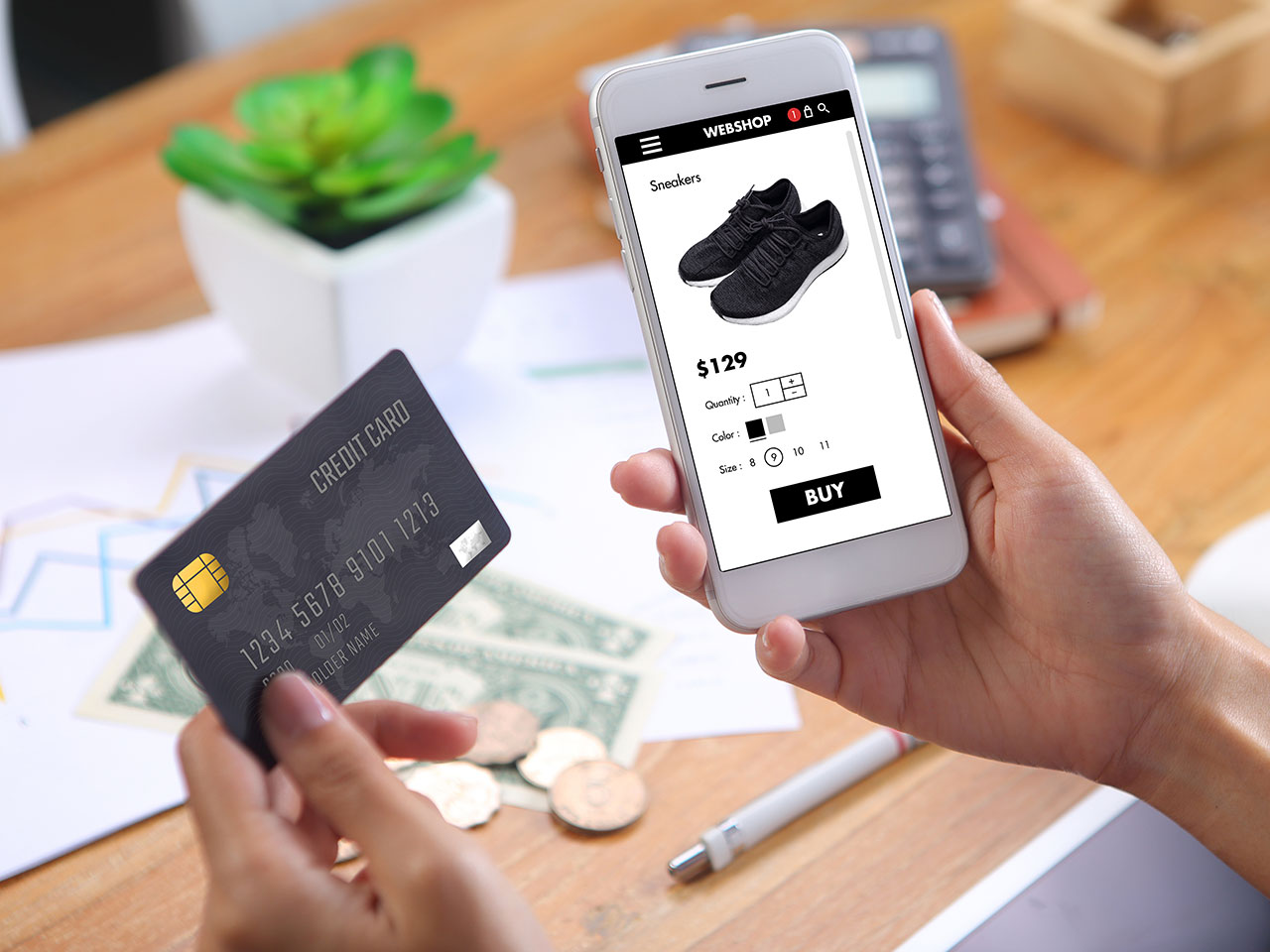 buying online using credit card