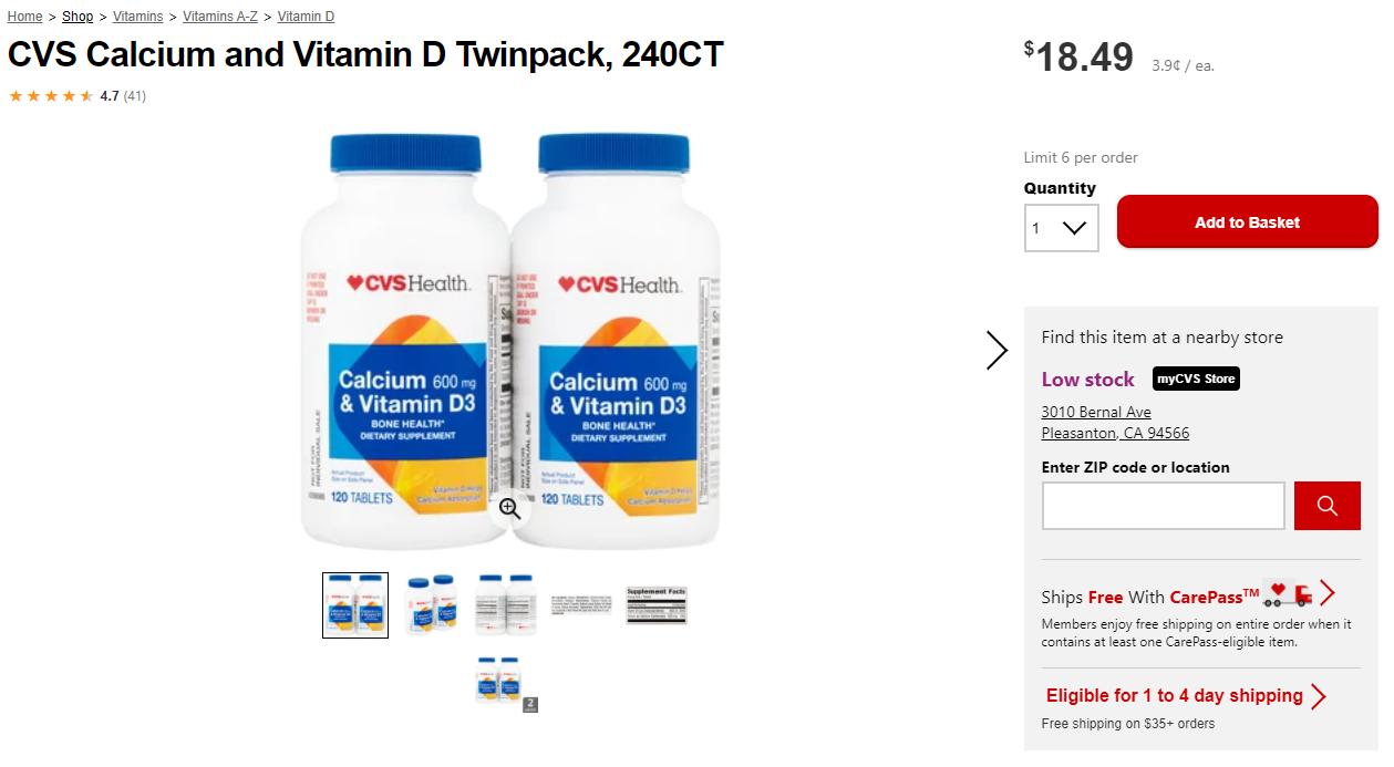 Virtual bundles screenshot of Vitamins