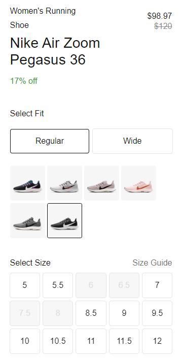 eCommerce Catalog Models - product variation