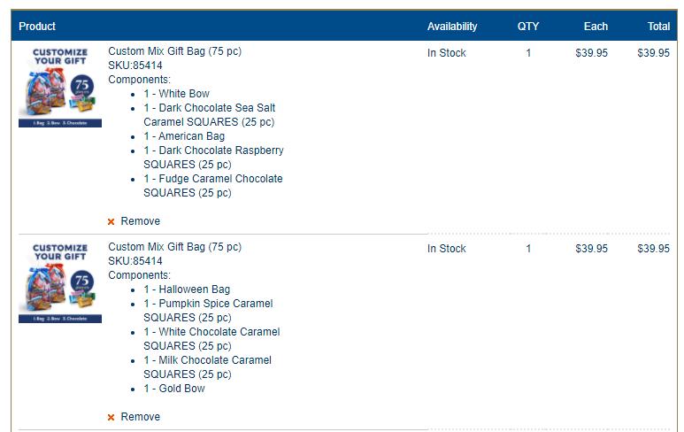 eCommerce catalog models - configurable bundles screenshot