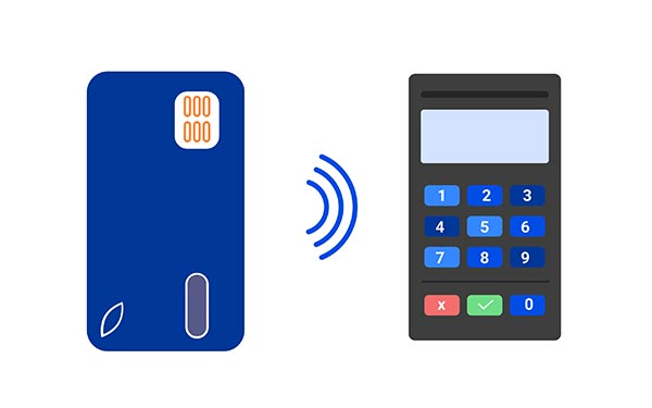 Contactless Example From Phone to Credit Card Reader