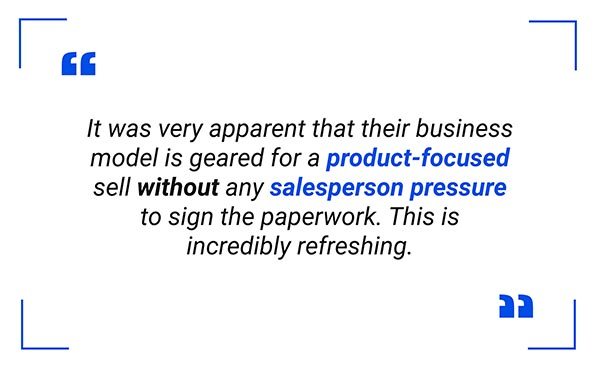 Buying a car online without salesperson pressure quote