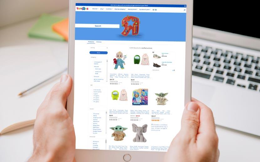 screenshot of toysRUs webpage