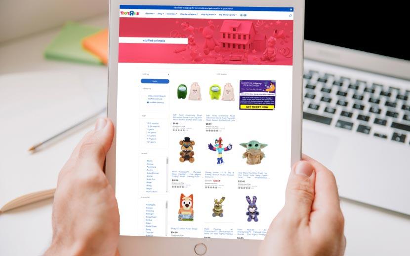 screenshot of toysRUs webpage 2