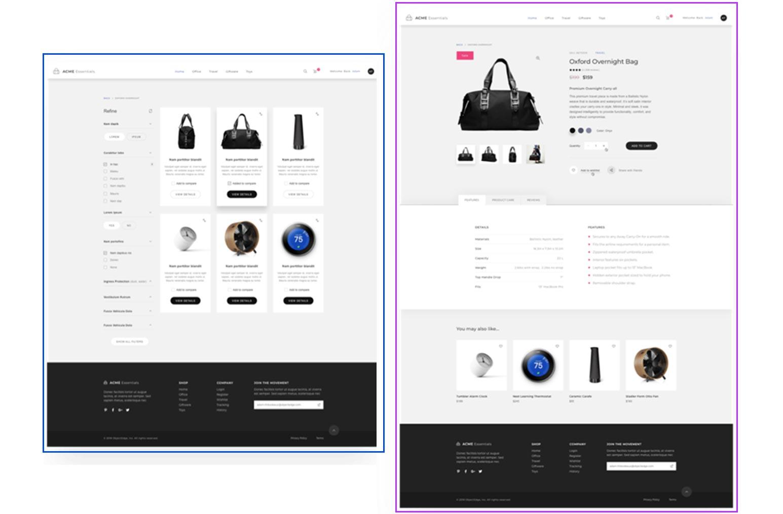 Web Design System - Final Website Page Layout