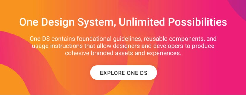 One Design System CTA banner