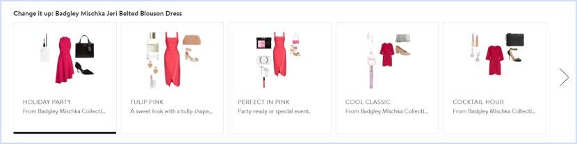 Product page slider Badgley Mischka Jeri Belten Blouson Dress