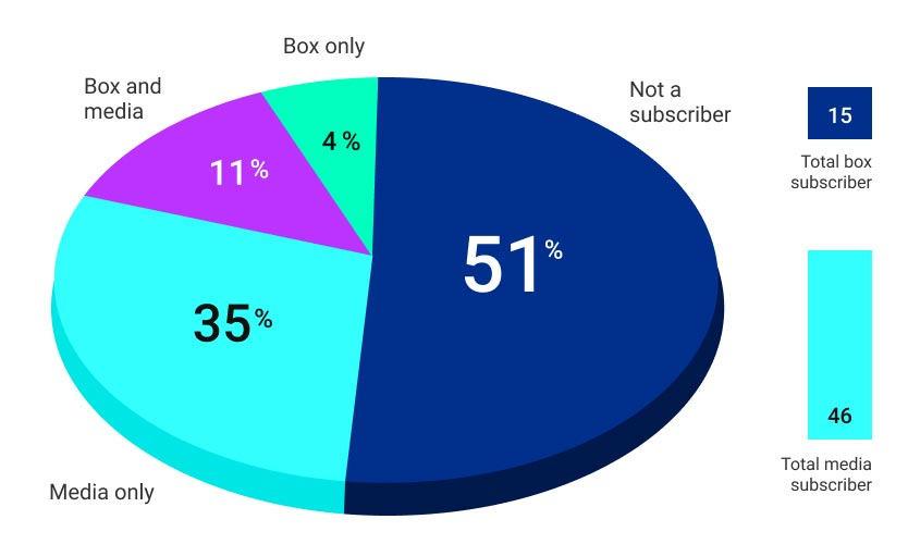Subscriptions pie graph