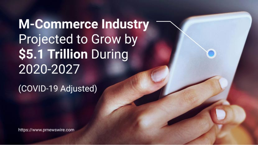 M-Commerce Industry graphic-prnewsire.com