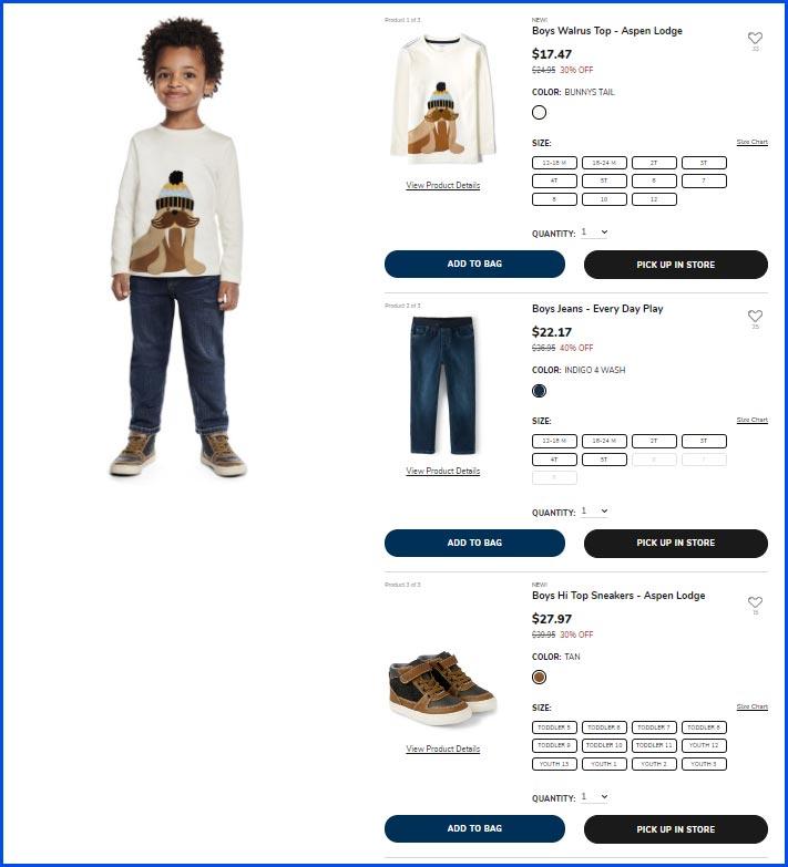 product page screenshot