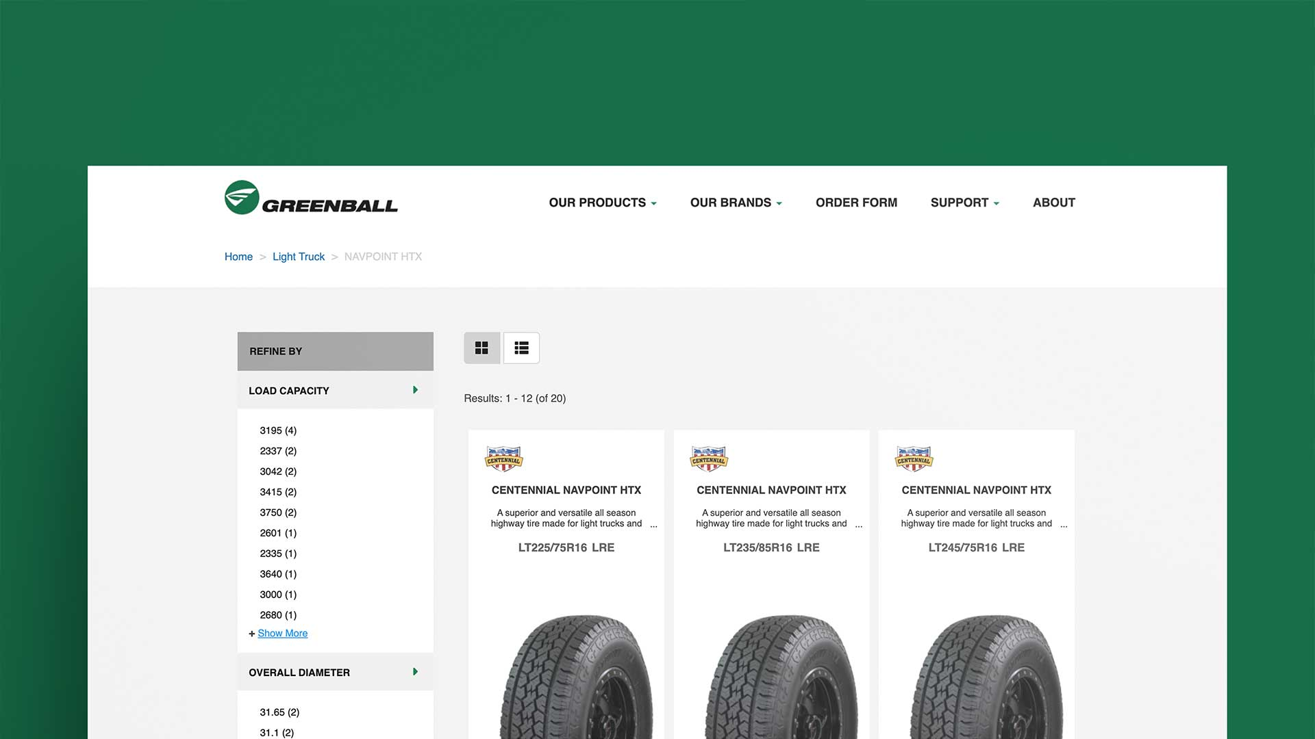 Greenball Tires