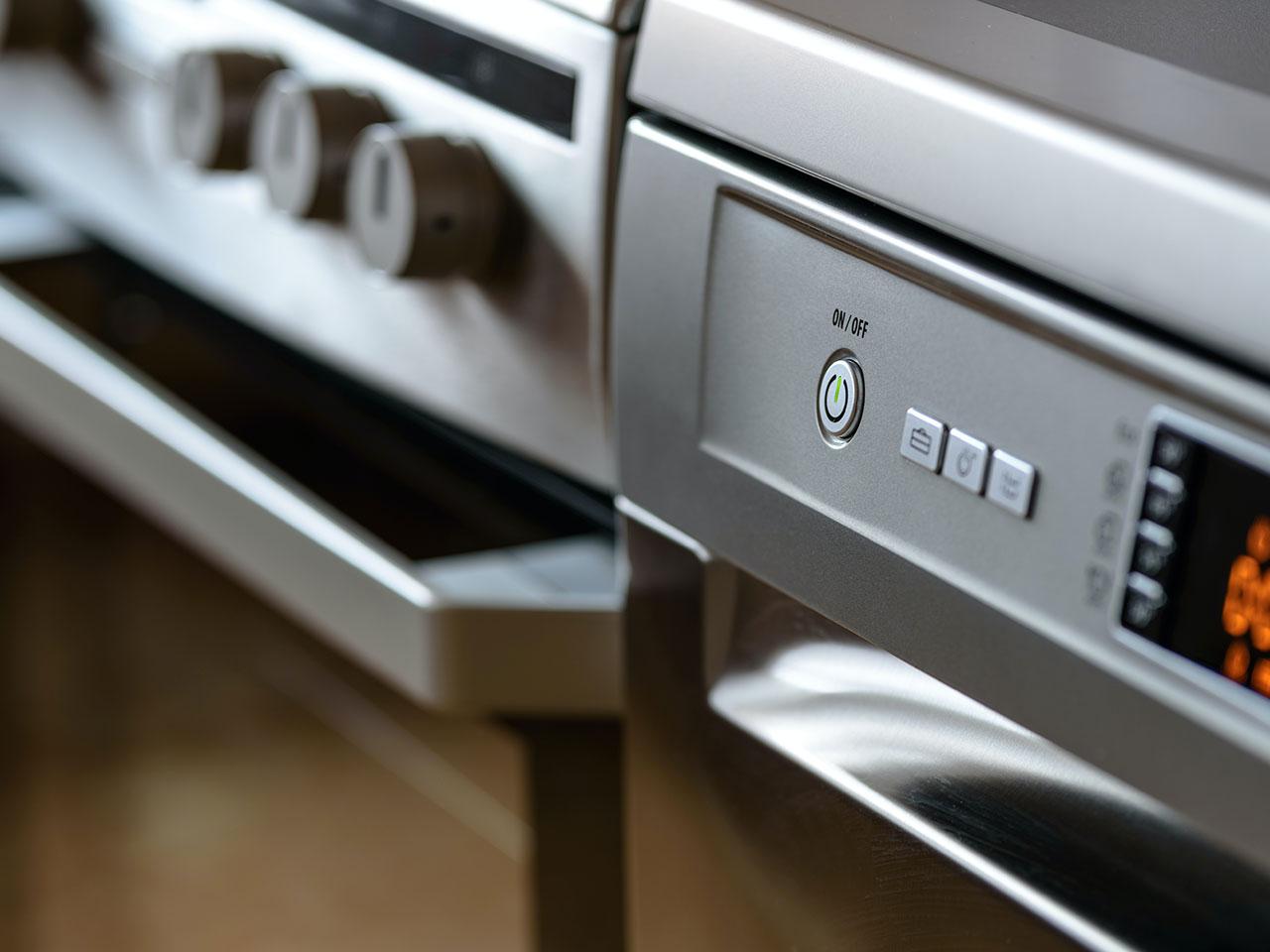 gray gas range oven in kitchen