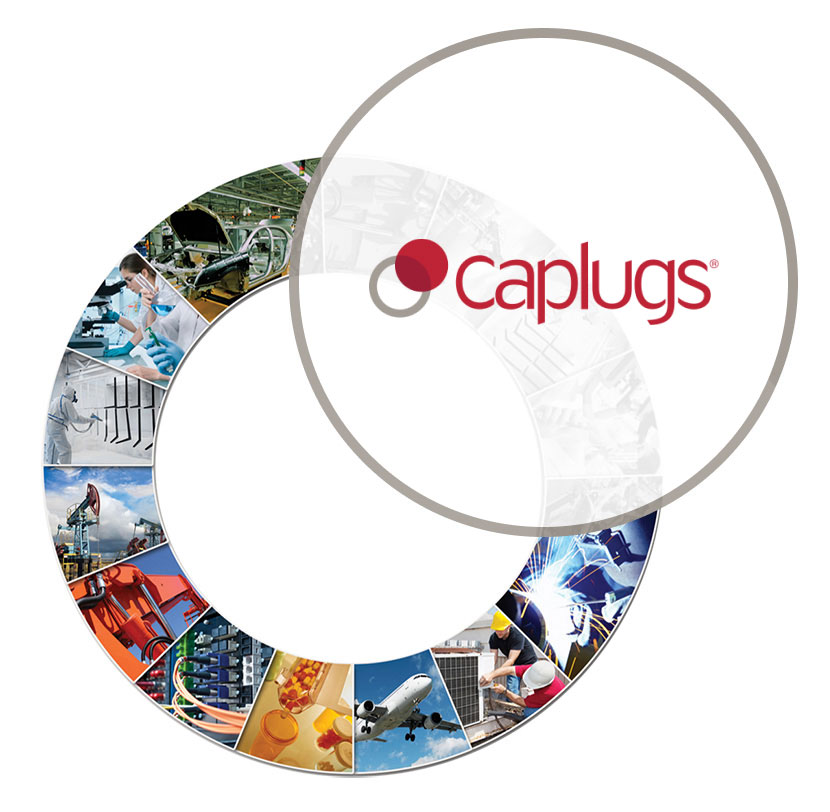 Caplugs round graphic