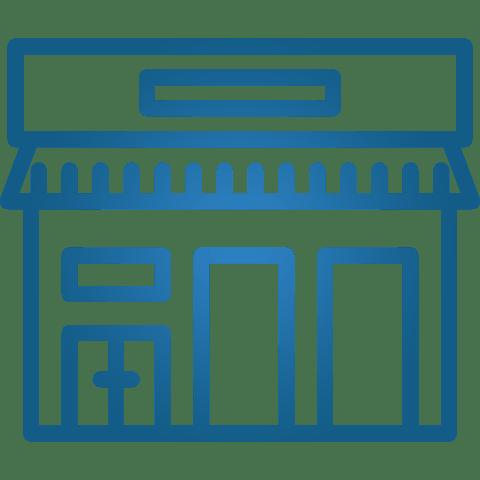 Blue Commercial Shop
