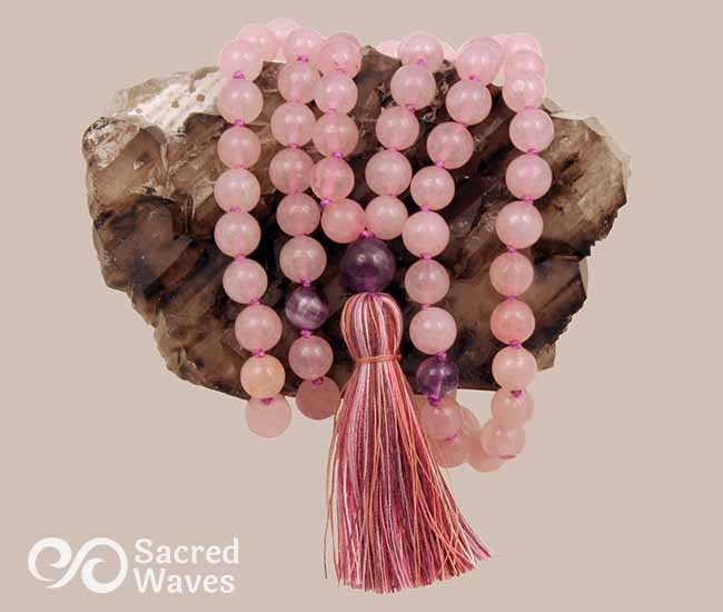 Rose Quartz & Amethyst Mala