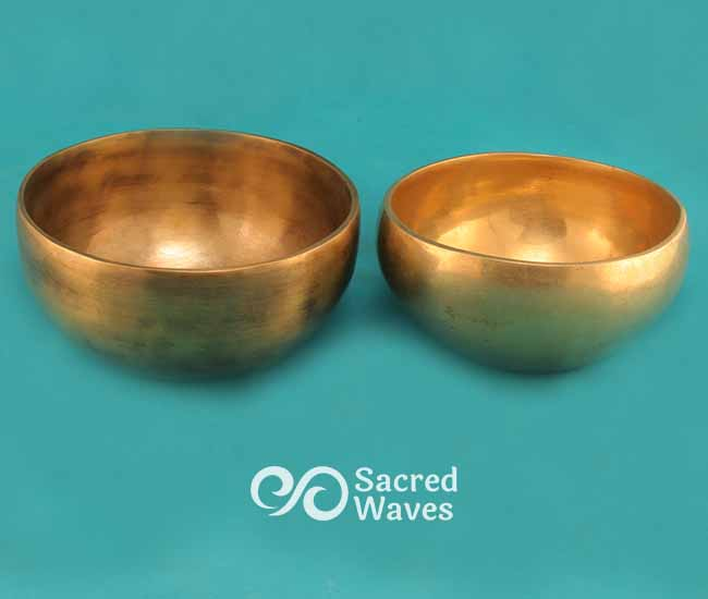 2 Tibetan Cup Bowls - A# and C# - Minor 3rd Interval