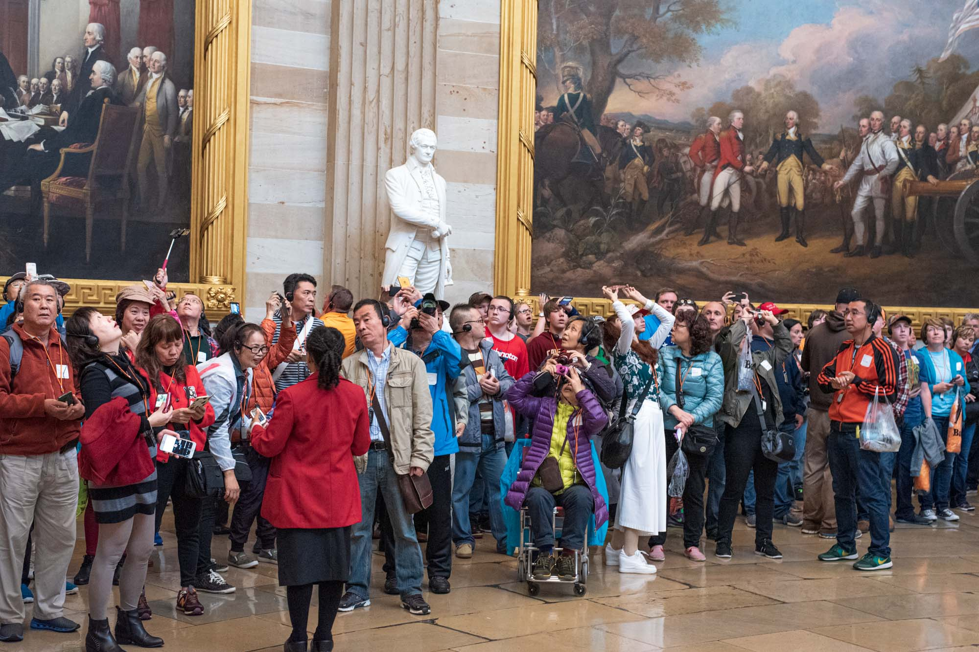 tourists gawk at the sights at the United States Capitol in Washington, DC