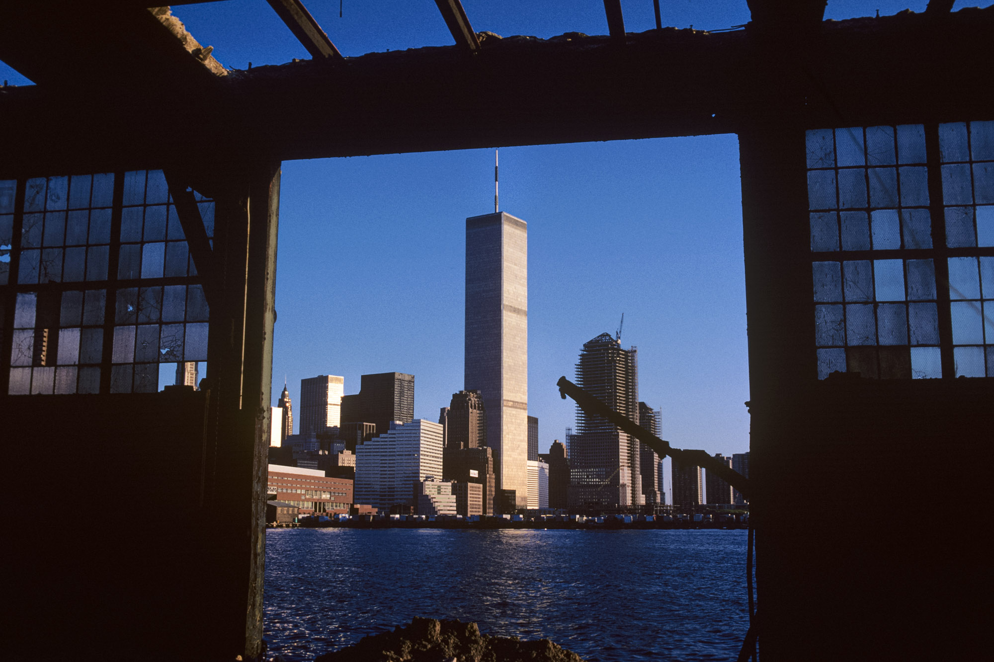the old World Trade Center in New York City