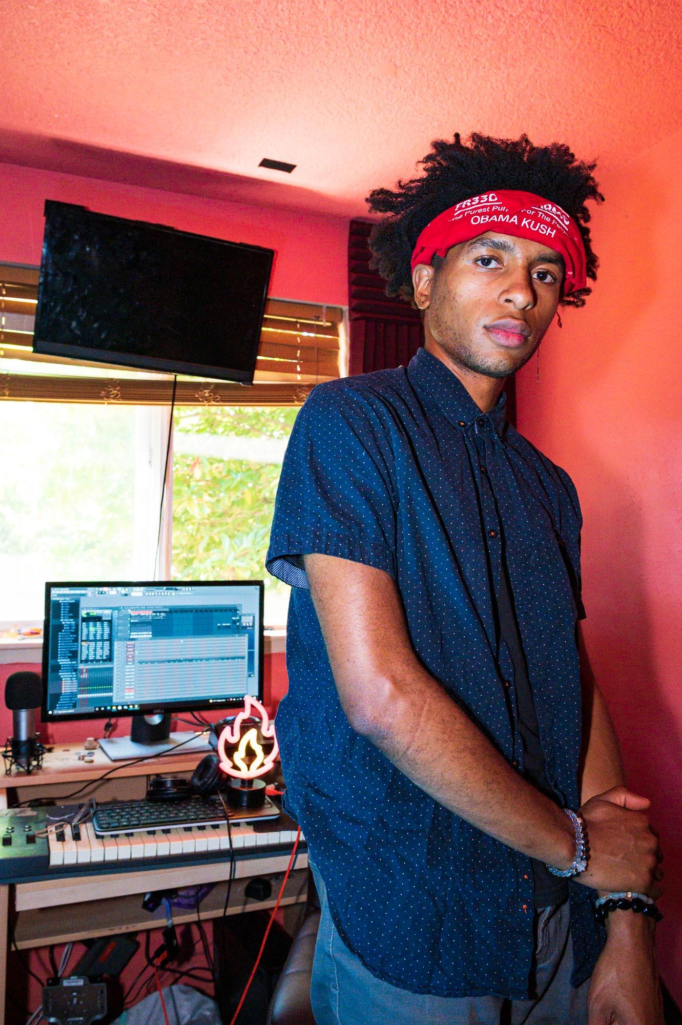 Aso in his home studio